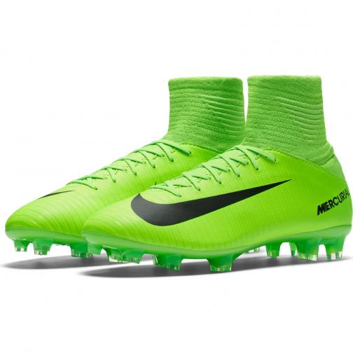 Nike Fußball-schuhe Mercurial Superfly V Fg  Juniormode ELECTRIC GREEN/BLACK-FLASH LIME-WHITE Tifoshop