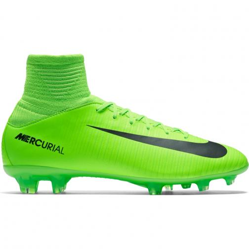 Nike Fußball-schuhe Mercurial Superfly V Fg  Juniormode ELECTRIC GREEN/BLACK-FLASH LIME-WHITE