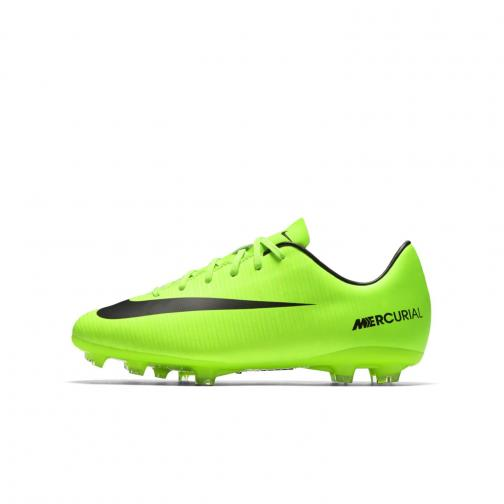 Nike Fußball-schuhe Mercurial Victory Vi Fg  Juniormode ELECTRIC GREEN/BLACK-FLASH LIME-WHITE Tifoshop