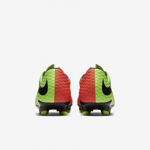Nike Football Shoes Hypervenom Phelon Iii Fg ELECTRIC GREEN/BLACK-HYPER ORANGE-VOLT Tifoshop