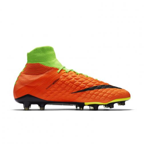 Nike Chaussures De Football Hypervenom Phantom Iii Dynamic Fit Fg ELECTRIC GREEN/BLACK-HYPER ORANGE-VOLT