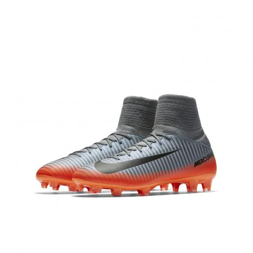 Nike Football Shoes Mercurial Superfly V Cr7 Fg  Junior Cristiano Ronaldo COOL GREY/MTLC HEMATITE-WOLF GREY Tifoshop