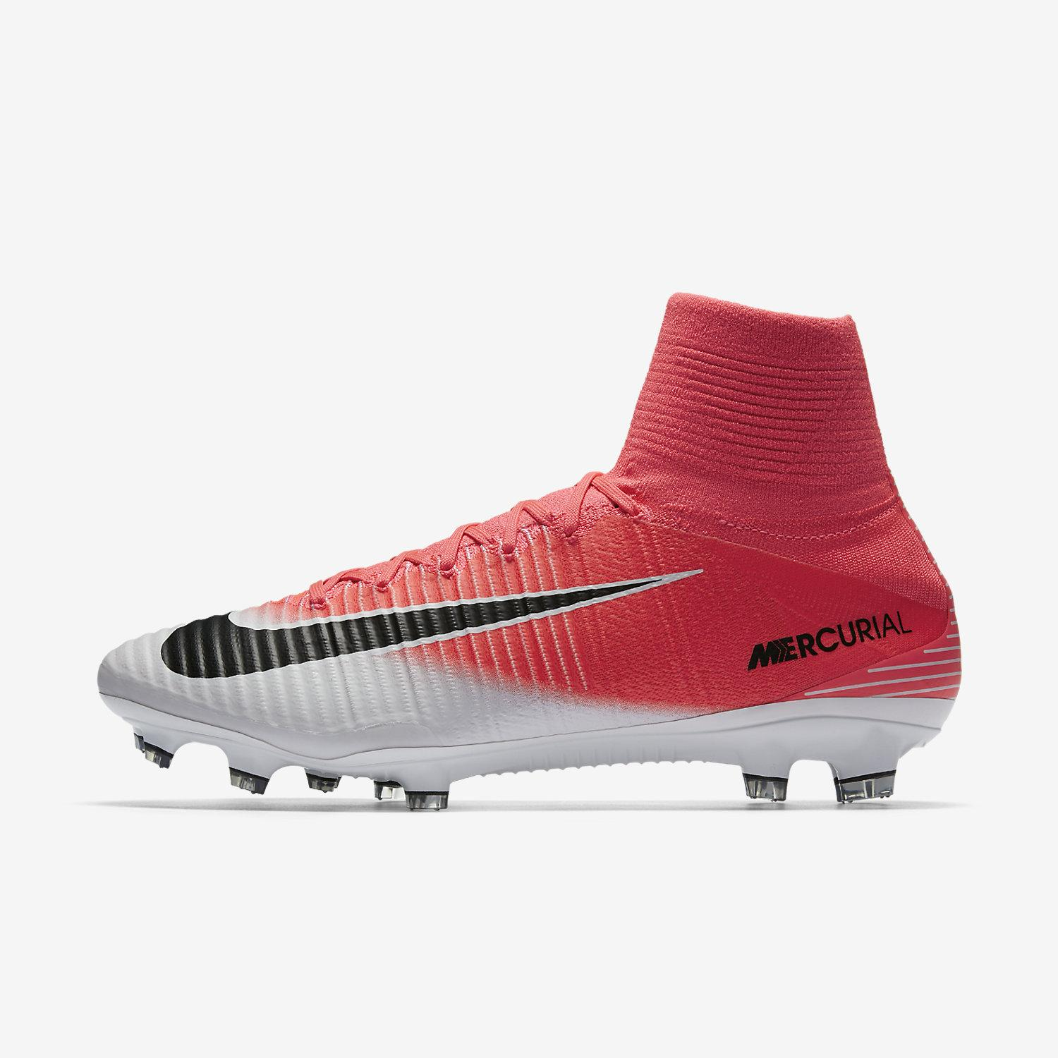 Nike Football Shoes Mercurial Superfly V Fg Racer Pink black-white -  Tifoshop.com bfeedca696