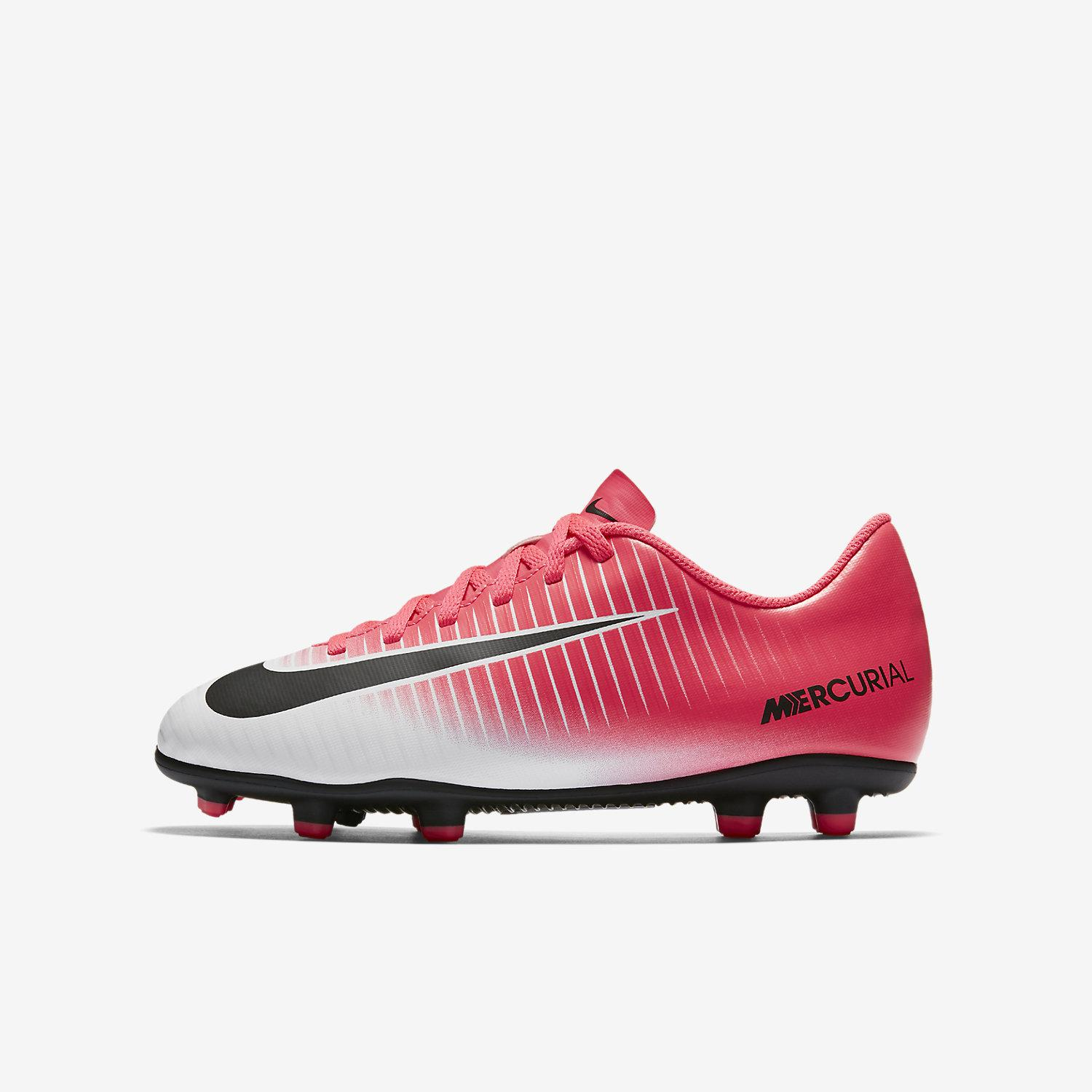 6977426c2230 Nike Football Shoes Mercurial Vortex Iii Fg Junior Racer Pink black ...