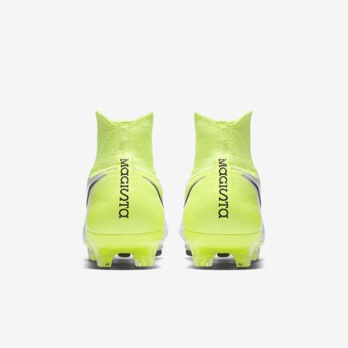 Nike Chaussures De Football Magista Orden Ii Fg WHITE/BLACK-VOLT-PURE PLATINUM Tifoshop