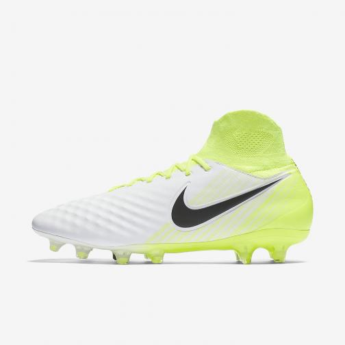 Nike Chaussures De Football Magista Orden Ii Fg WHITE/BLACK-VOLT-PURE PLATINUM