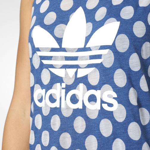 Adidas Originals Tank Top Loose Trefoil  Woman real blue s10/pearl opal Tifoshop