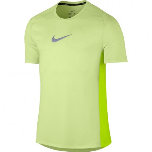 Nike T-shirt Breathe BARELY VOLT/HTR/VOLT