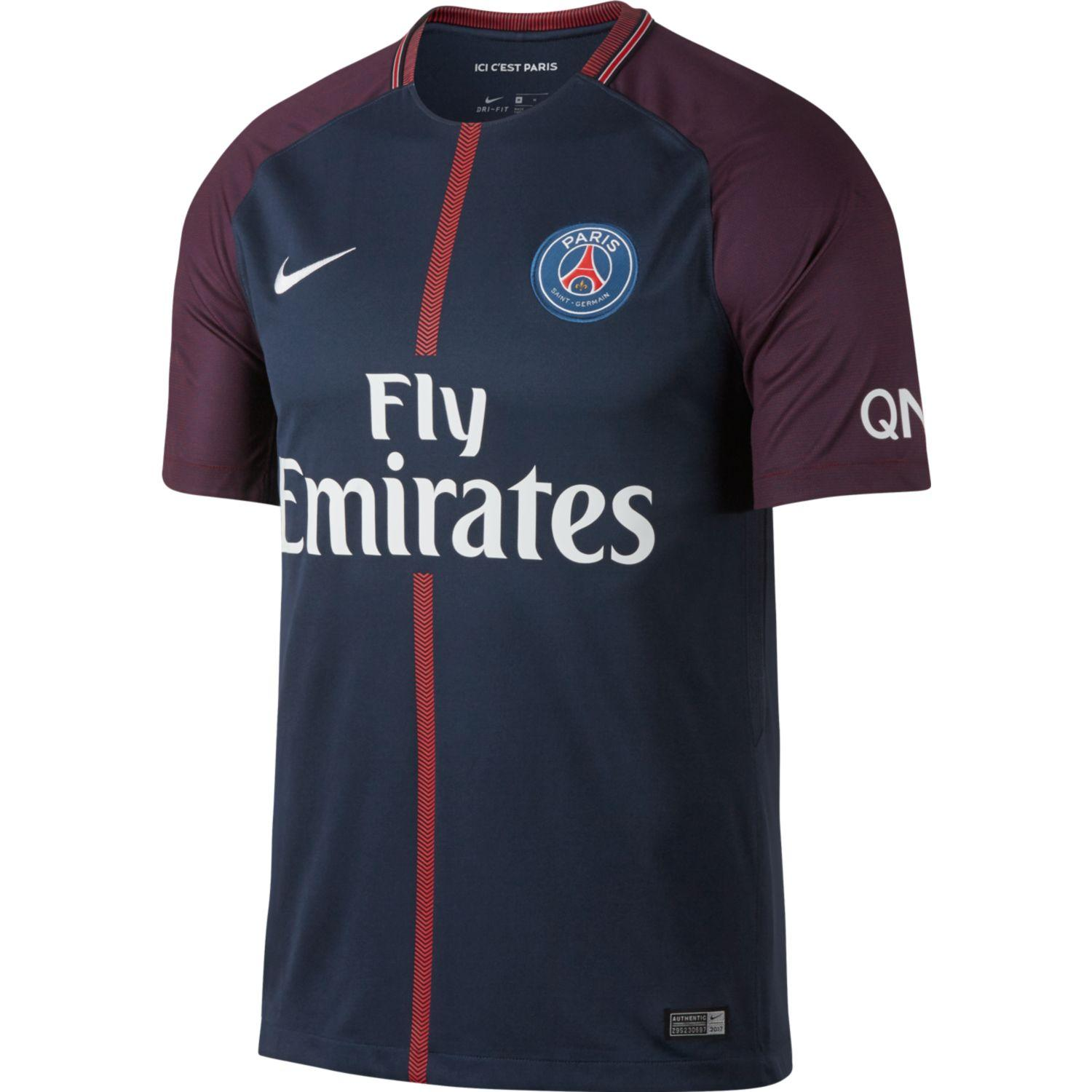 Nike Maglia Gara Home Paris Saint Germain   17/18