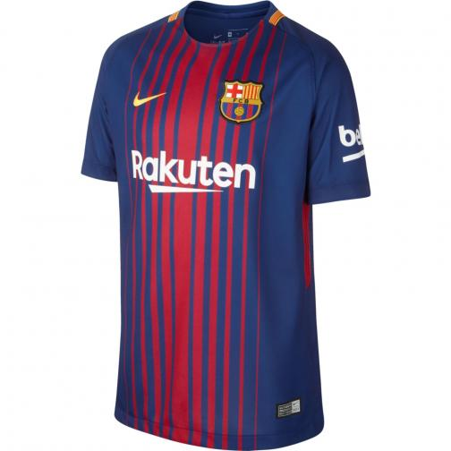 Nike Jersey Home Barcelona Junior  17/18 DEEP ROYAL BLUE/UNIVERSITY GOLD