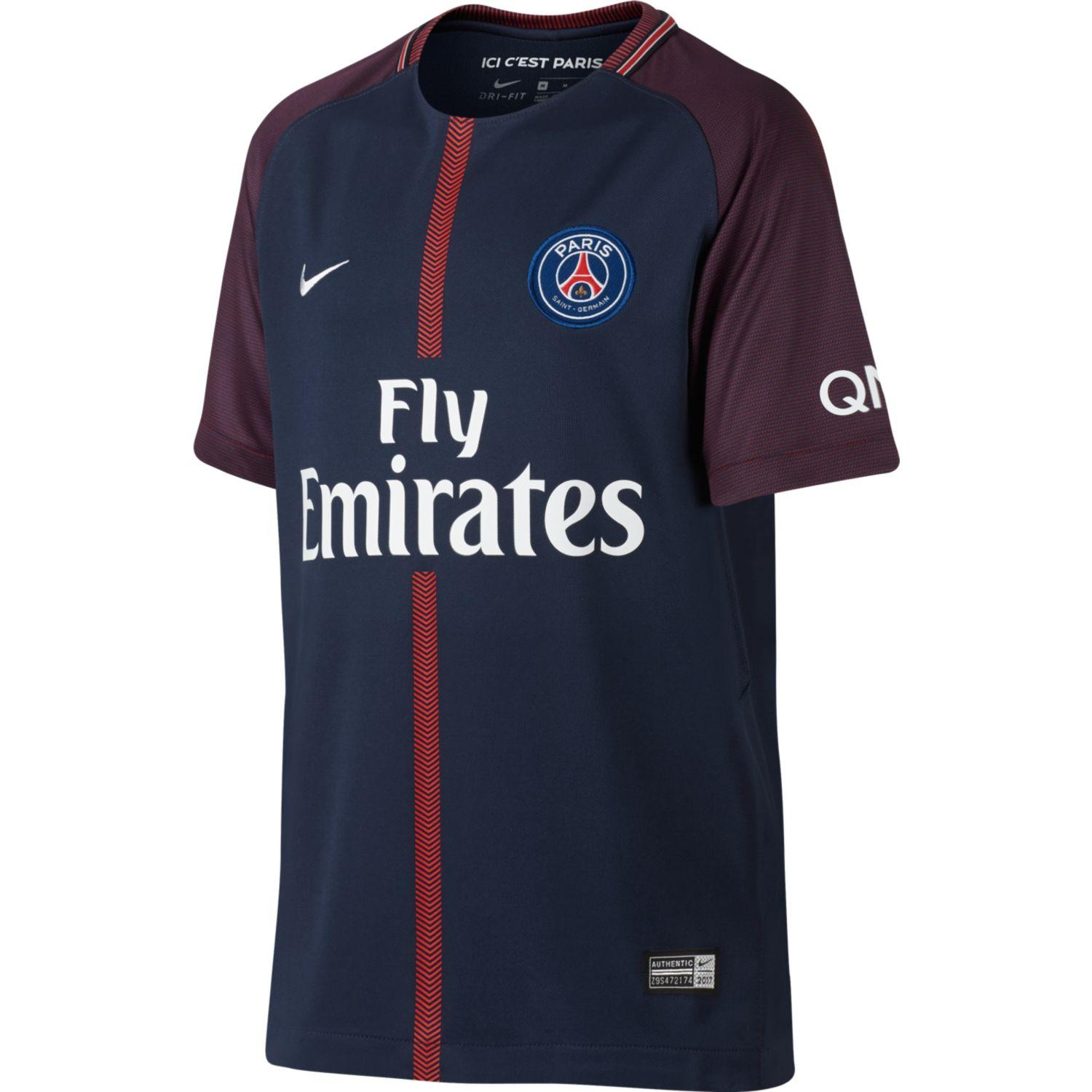 Nike Maillot De Match Home Paris Saint Germain Enfant  17/18