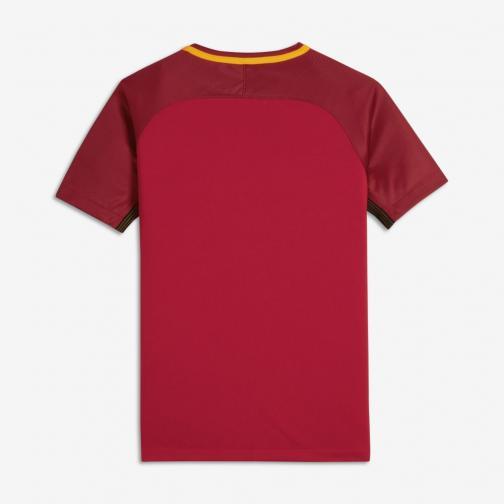 Nike Maillot De Match Home Roma Enfant  17/18 TEAM CRIMSON/UNIVERSITY GOLD Tifoshop