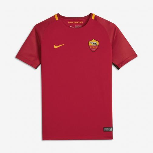 Nike Shirt Home Roma Juniormode  17/18 TEAM CRIMSON/UNIVERSITY GOLD