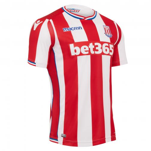 Macron Jersey Home Stoke City   17/18 Red/White