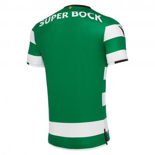 Macron Shirt Home Sporting Lisbona   17/18 White/Green Tifoshop
