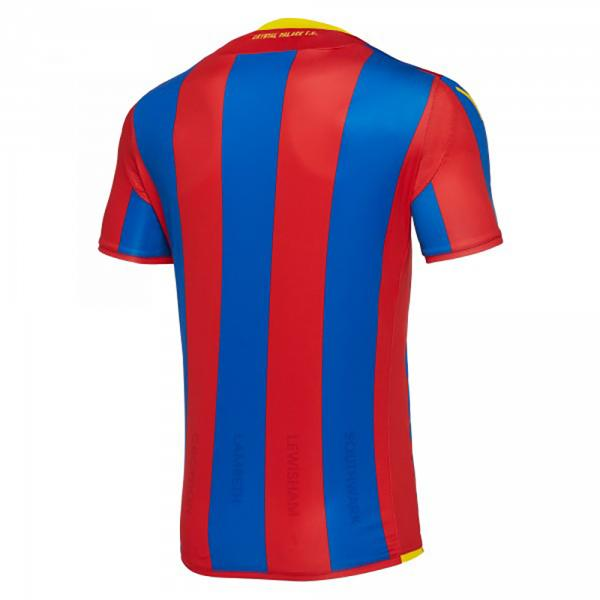 Macron Maillot De Match Home Crystal Palace Fc   17/18 Red/Blue Tifoshop
