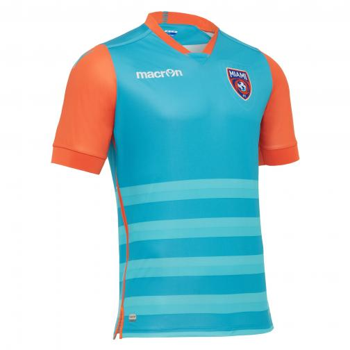 Macron Maillot De Match Home Miami   17/18 Light blue