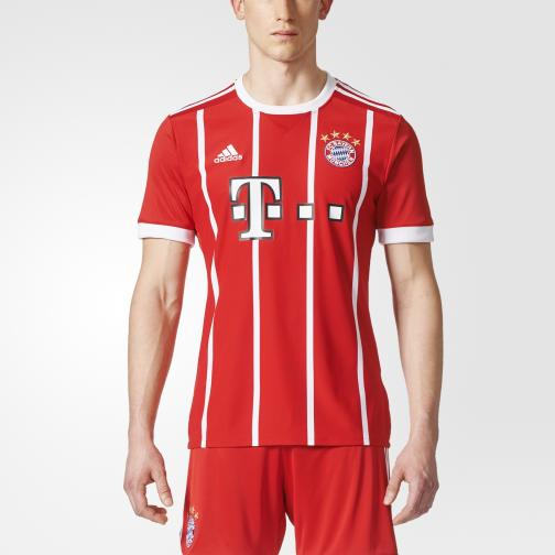 Adidas Maillot De Match Home Bayern Monaco   17/18 White/Red Tifoshop