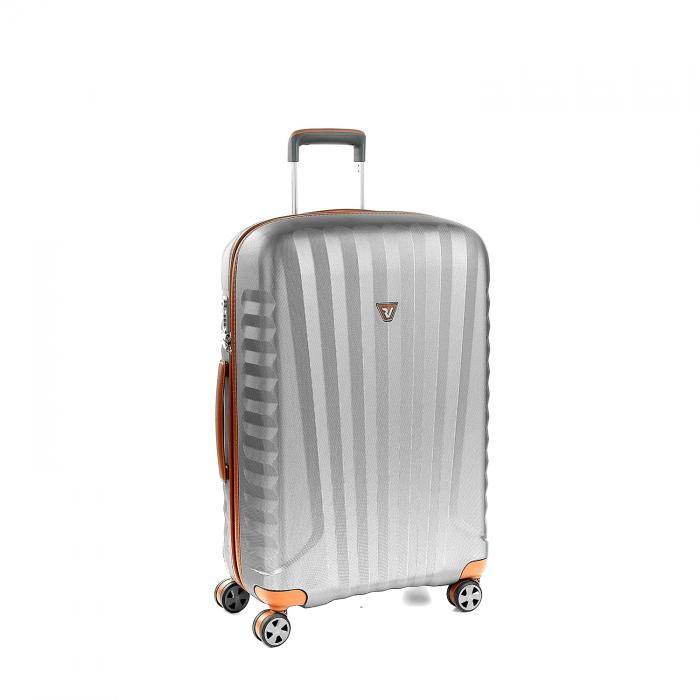 Medium Luggage  TITANIUM/COGNAC
