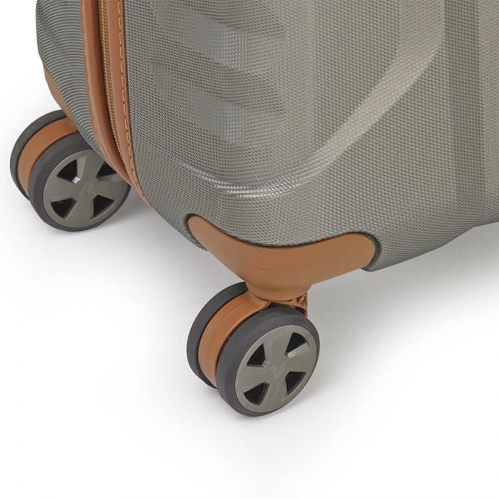 Trolley Cabine  TITANIUM/COGNAC Roncato
