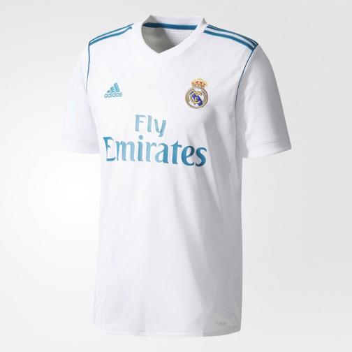 Adidas Maillot De Match Home Real Madrid   17/18 White/Vivid Teal