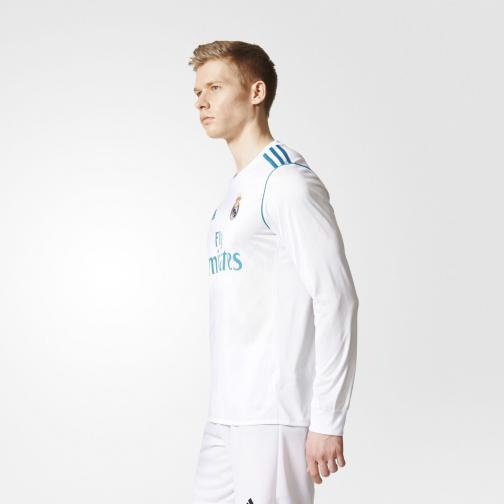 Adidas Shirt Home Real Madrid   17/18 White/Vivid Teal Tifoshop