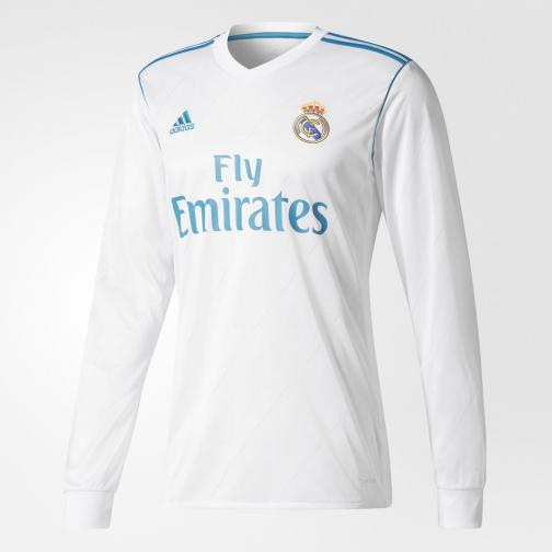 Adidas Shirt Home Real Madrid   17/18 White/Vivid Teal