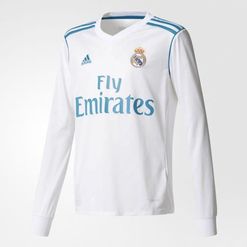 Adidas Jersey Home Real Madrid Junior  17/18 White/Vivid Teal