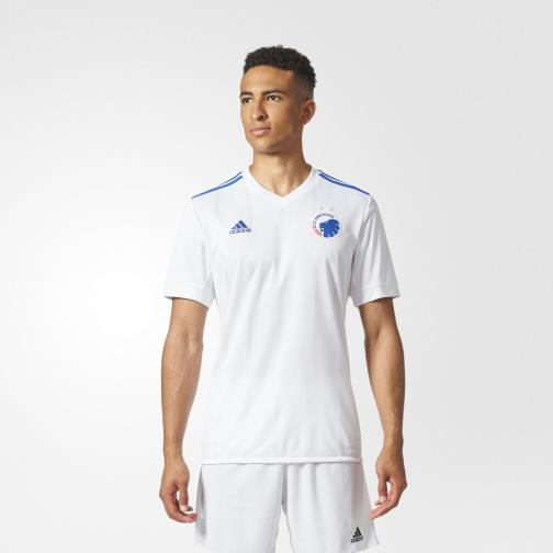 Adidas Shirt Home Fc Copenhagen   17/18 White/Blue Tifoshop