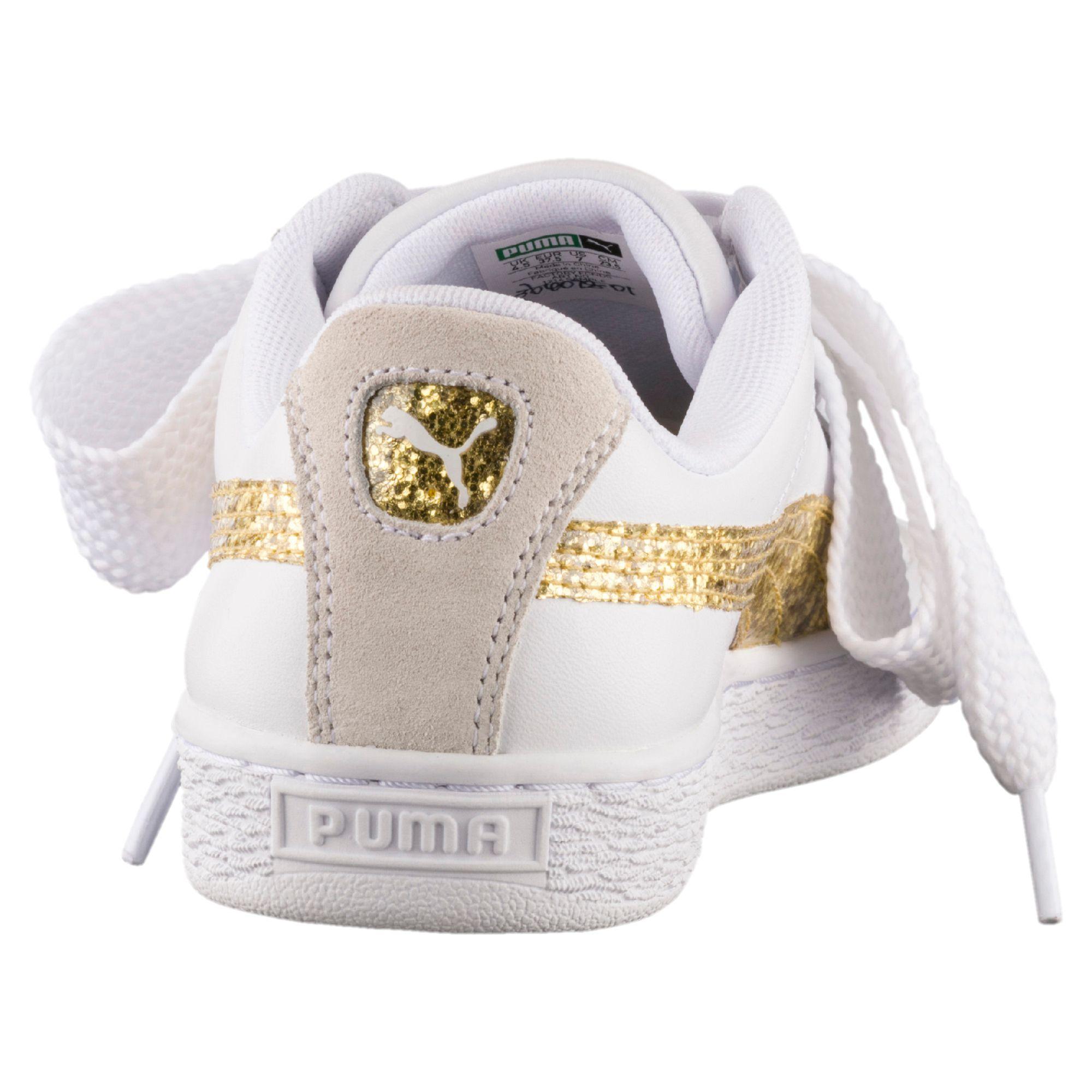 puma basket heart oro