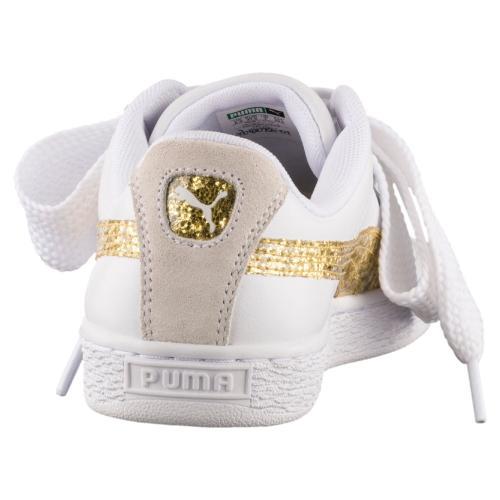 Puma Scarpe Basket Heart Glitter  Donna