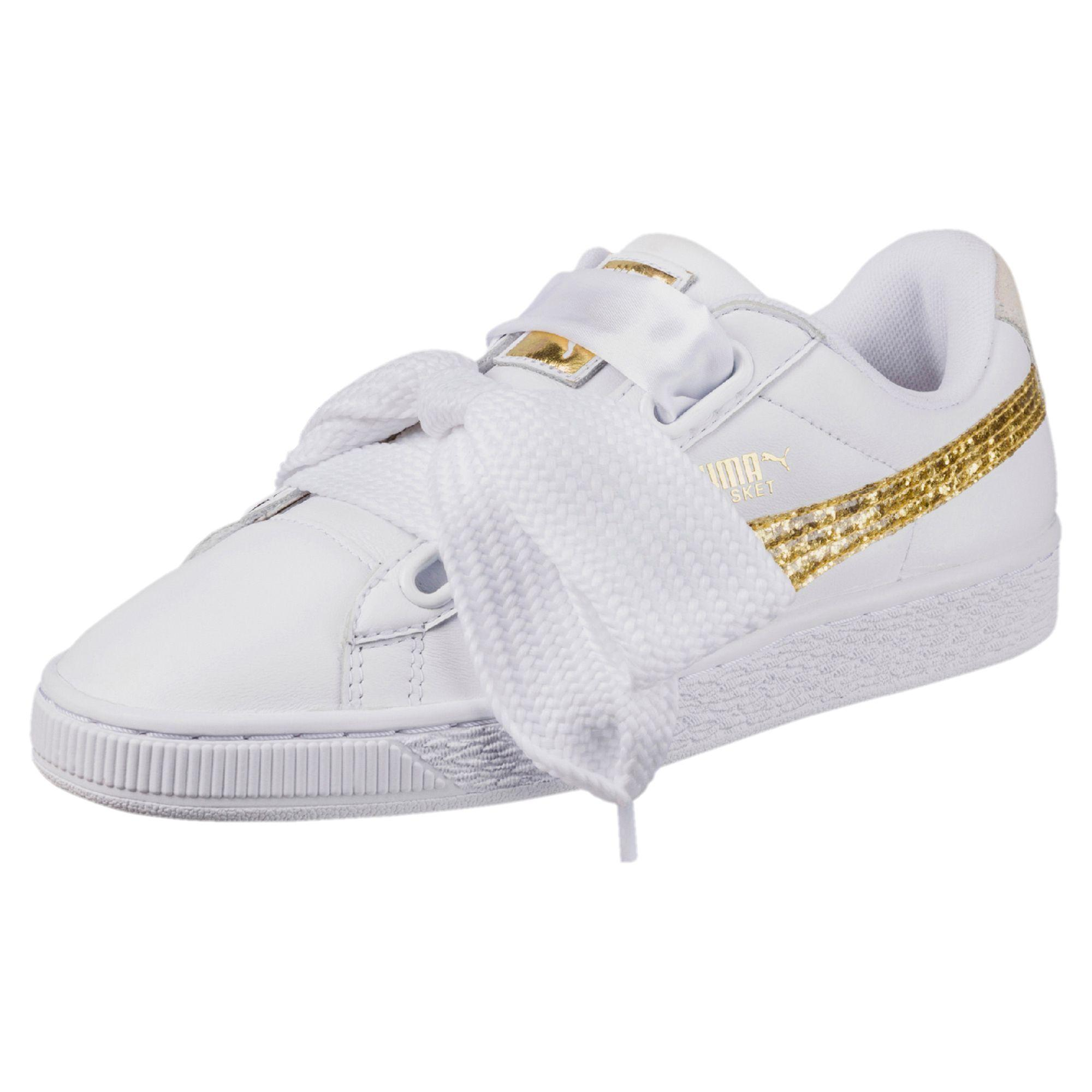 Sneakers Basket Heart Glitter in pelle Puma