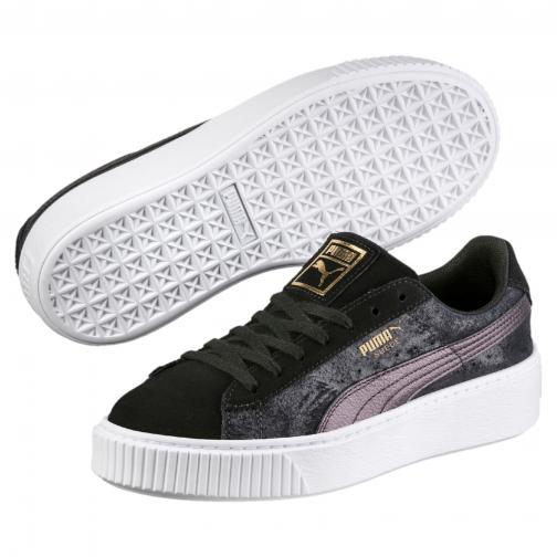 Puma Shoes Suede Platform Safari  Woman PUMA BLACK-PUMA BLACK Tifoshop