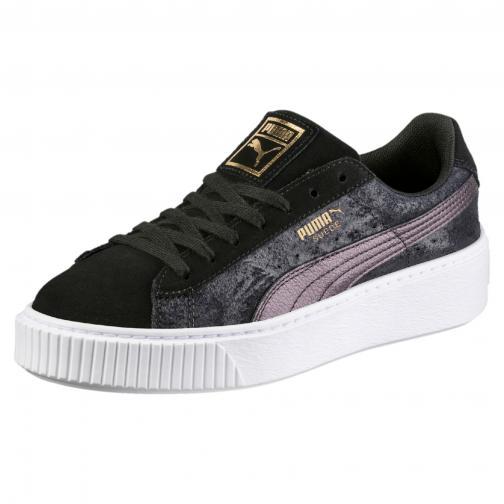 Puma Shoes Suede Platform Safari  Woman PUMA BLACK-PUMA BLACK