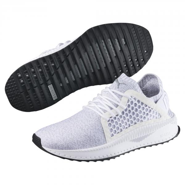 Puma Shoes Puma Tsugi Netfit Evoknit  Unisex PUMA WHITE-QUARRY-PUMA BLACK Tifoshop