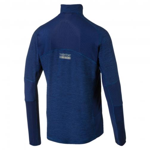 Puma Sweater Nightcat Longsleeve Halfzip BLUE DEPTHS HEATHER Tifoshop