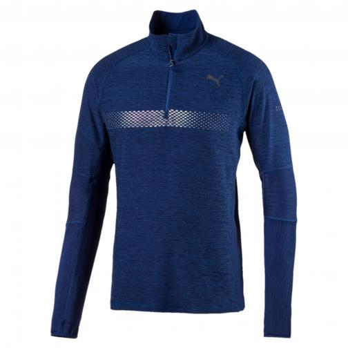 Puma Sweater Nightcat Longsleeve Halfzip BLUE DEPTHS HEATHER
