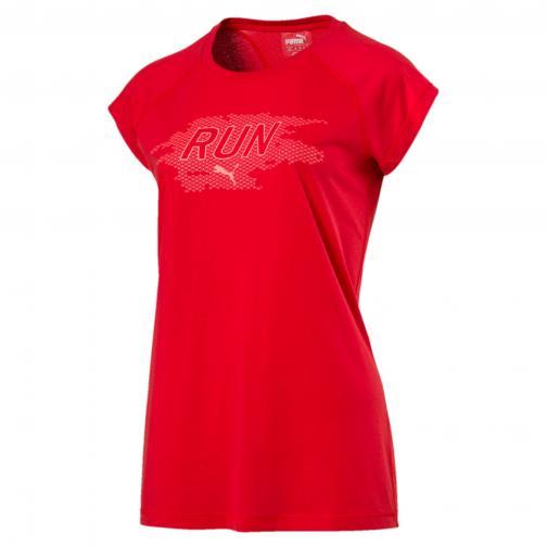 Puma T-shirt Run Short Sleevetee Women  Damenmode POPPY RED HEATHER
