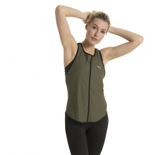 Puma Tank Top Explosive Mesh Tank  Woman OLIVE NIGHT