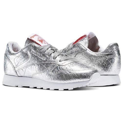 Reebok Shoes Classic Leather Hd  Woman Silver/White