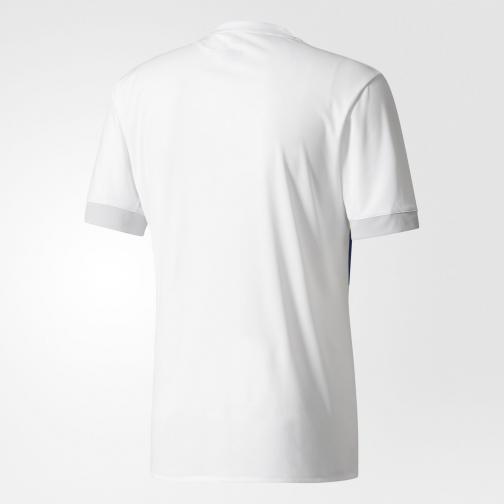 Adidas Maglia Gara Home Olympique Lione   17/18 Bianco/Rosso/Blu Tifoshop