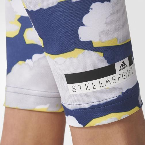 Adidas Stella Sport Pant Franchise Tight  Woman White/Blue/Bright Yellow Tifoshop