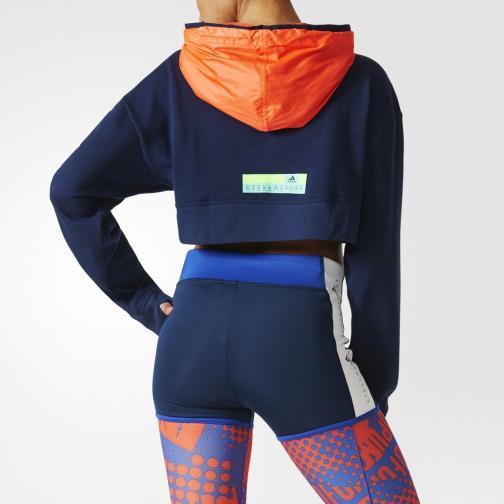 Adidas Stella Sport Felpa Icon Hoody  Donna Blu Tifoshop