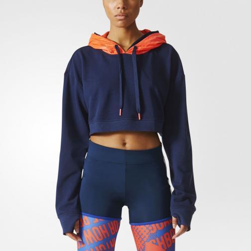 Adidas Stella Sport Sweatshirt Icon Hoody  Damenmode Night indigo