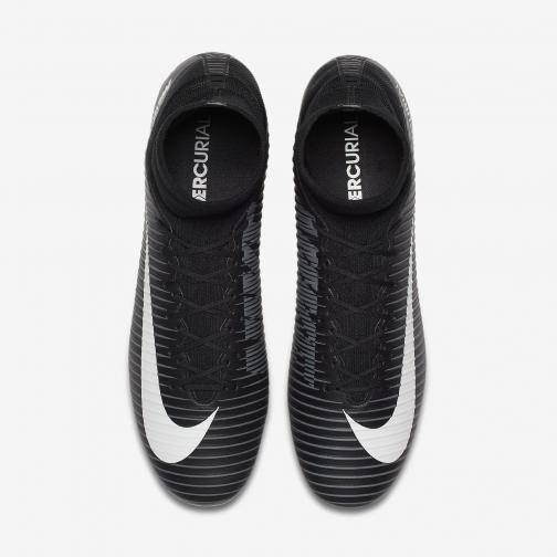 Nike Fußball-schuhe Mercurial Veloce Iii Fg BLACK/WHITE-DARK GREY-UNIVERSITY RED Tifoshop