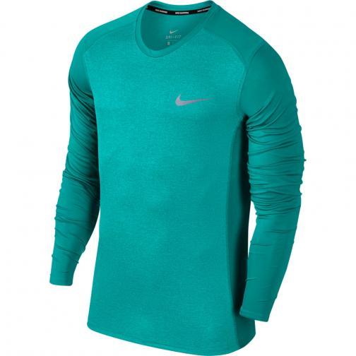 Nike Trikot Miler Long Sleeve TURBO GREEN/HTR