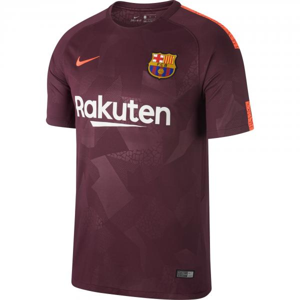 Nike Shirt Drittel Barcelona   17/18 NIGHT MAROON/HYPER CRIMSON