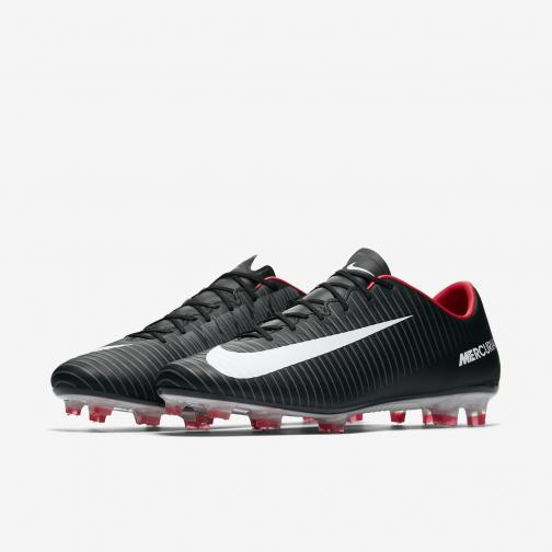 Nike Scarpe Calcio Mercurial  Veloce Iii Fg Nero/Bianco/Rosso Tifoshop
