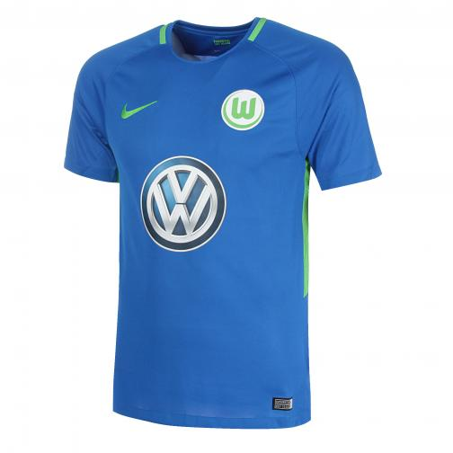 Nike Maglia Gara Away Wolfsburg   17/18 Blu/Verde