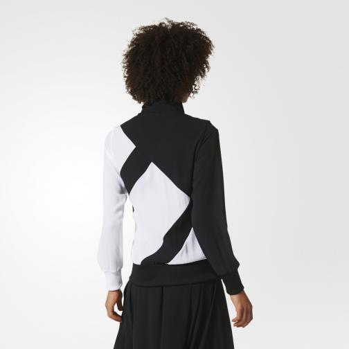 Adidas Originals Felpa Eqt Firebird Tt  Donna Nero/Bianco Tifoshop